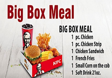 KFC Curacao | Chicken Meals, Price in Antillean Guilders includes tax